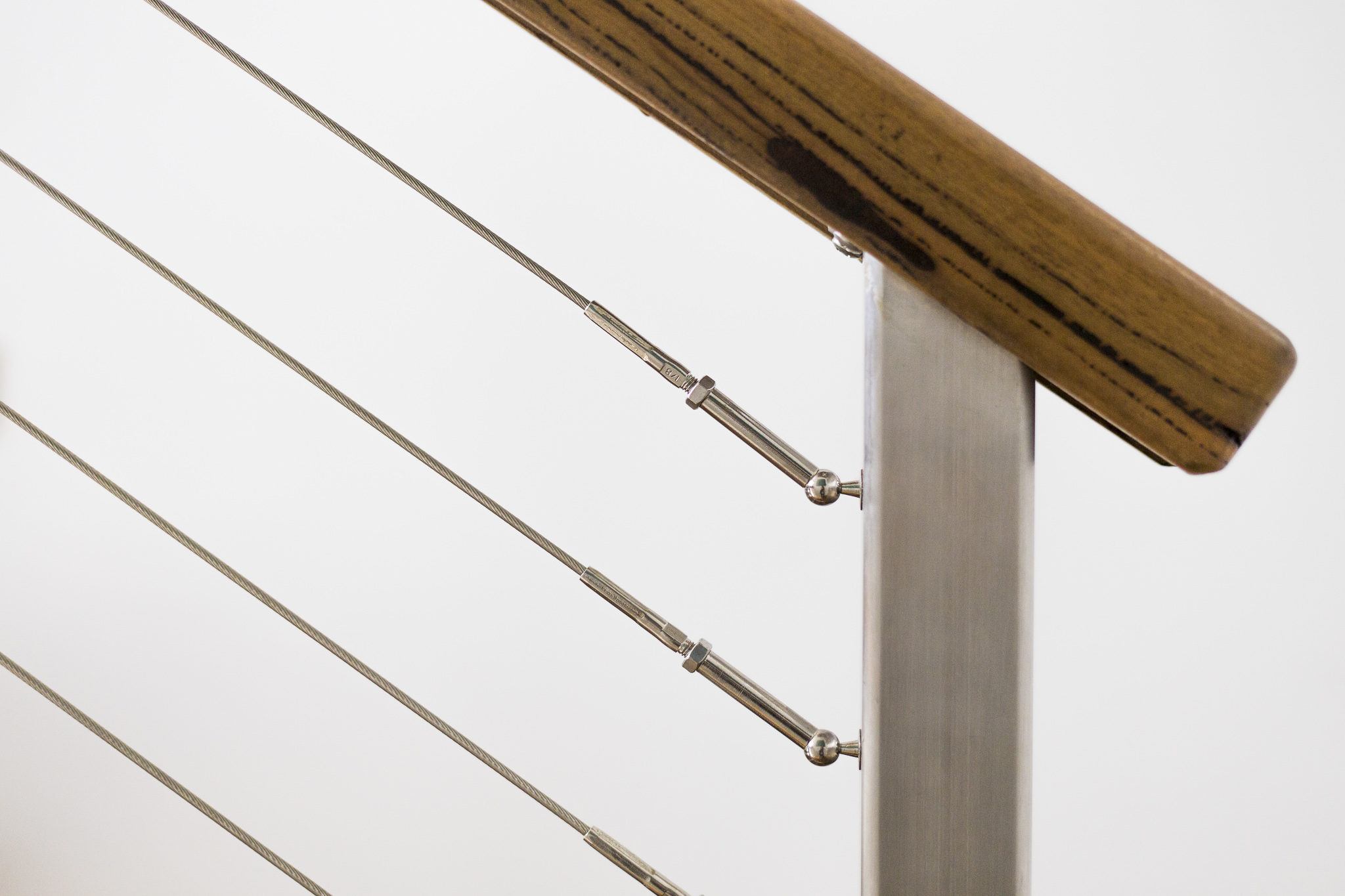 wire and timber deck