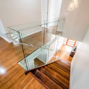 residential glass staircase