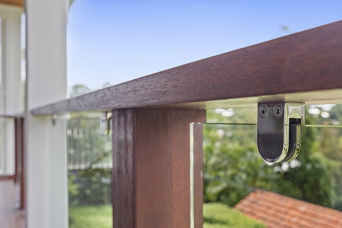 Glass clamps timber balustrade copy